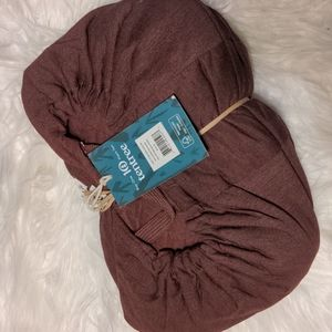 Tentree quilted zip hoodie red mahogany heater nwt